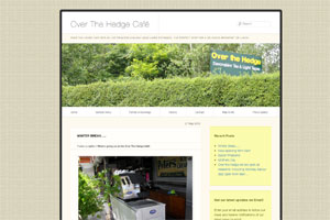 Over the Hedge cafe WordPress website